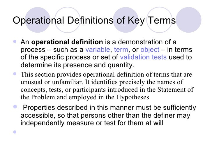 what is an operational definition in a research paper Operations research, or operational research in british usage, is a discipline that deals with the application of advanced analytical methods to help make better decisions.