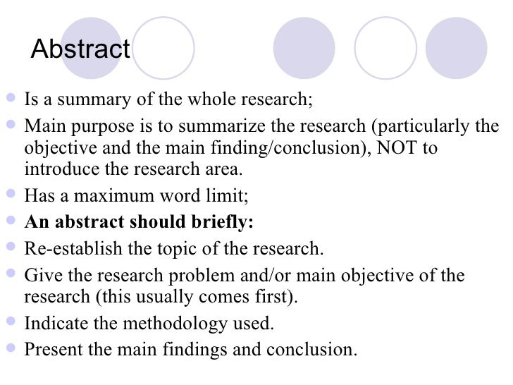 Meaning of abstract in research
