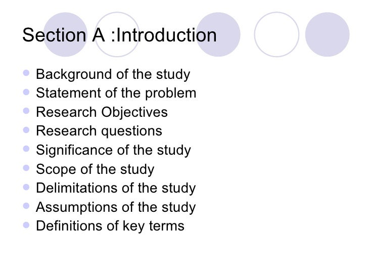 Abstract in research proposal