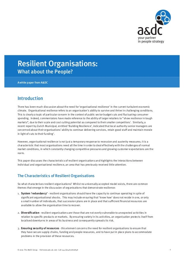 The Resilient Organisation