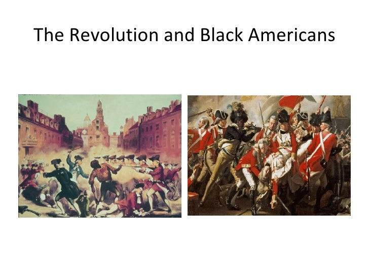 The Revolution And Black America