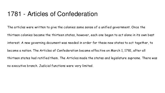 Essay question involving Articles of Confederation and the US Constitution?
