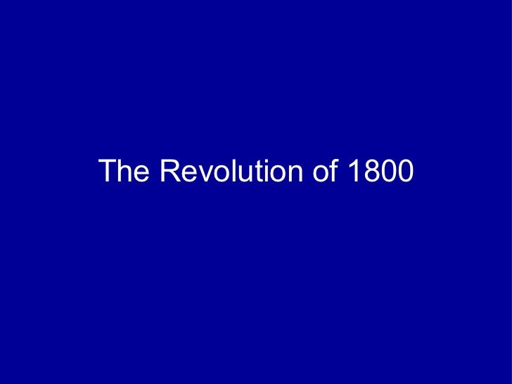 The revolution of_1800