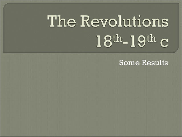 Revolutions - Some Results