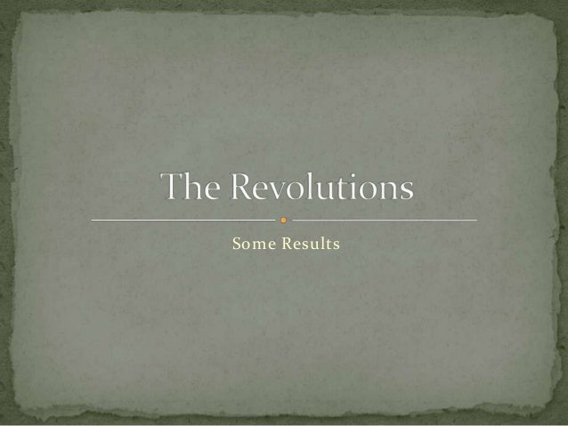 The revolutions results 2014
