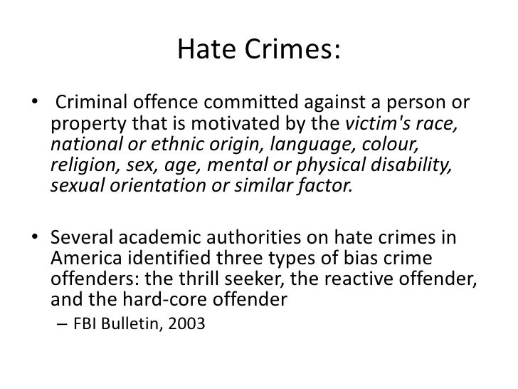 Custom Hate Crime Laws essay writing
