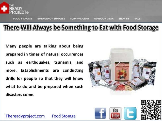 There will always be something to eat with food storage