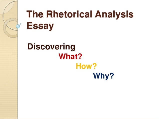 rhetorical analysis topics