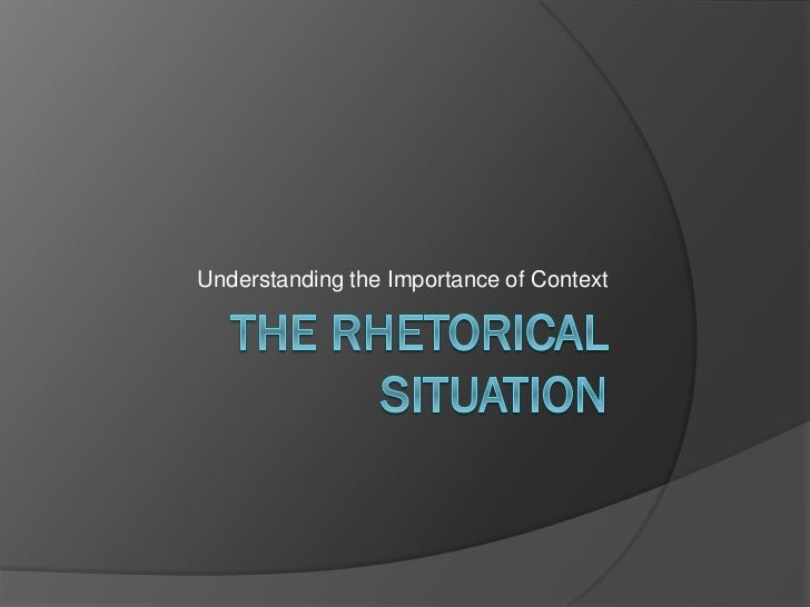 rhetorical situation analysis example
