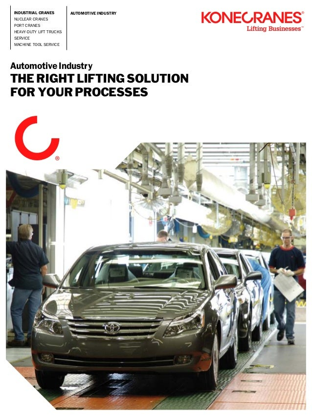 The right lifting solution for the automotive industry