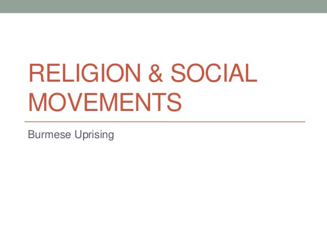 Birma, Religion, and Social Movements