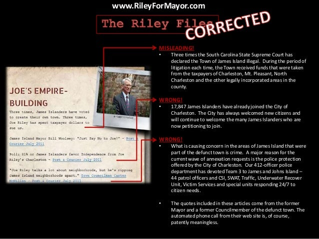The Riley Files: Corrected