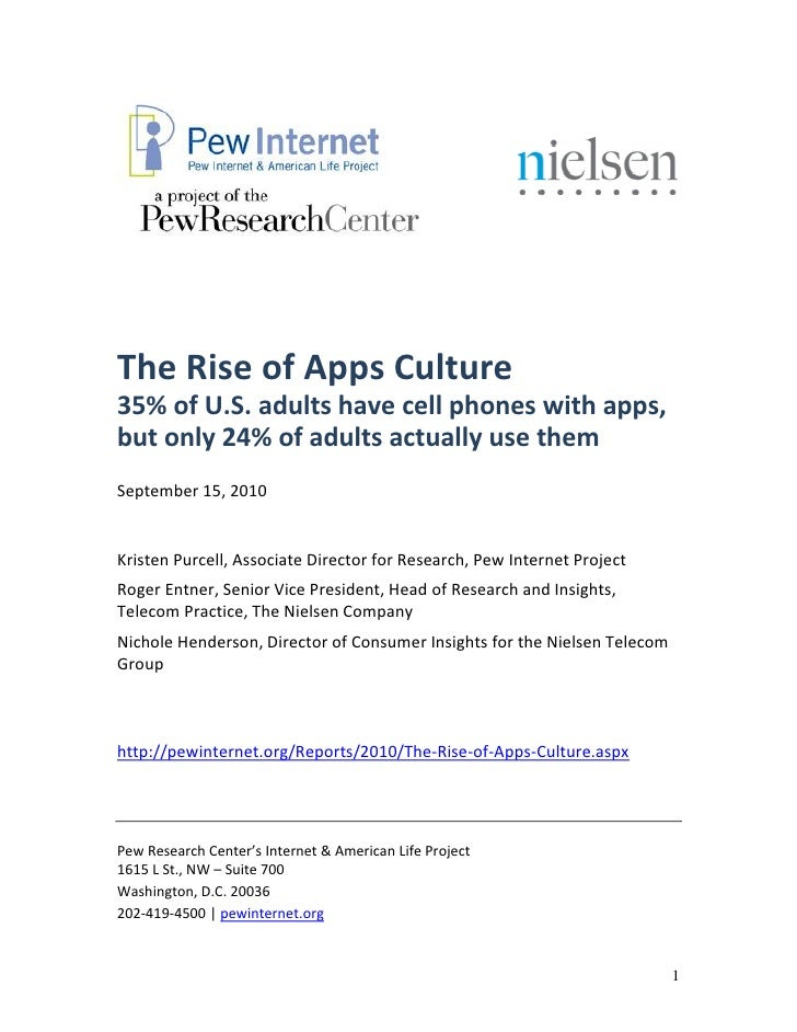 The rise of apps culture