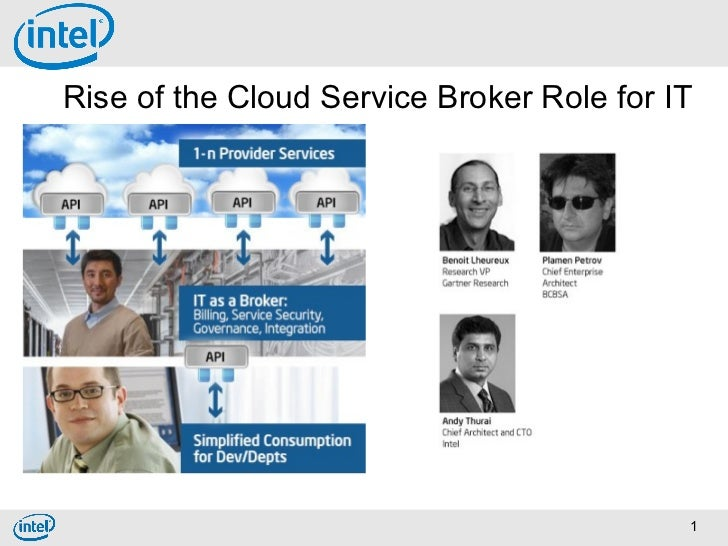 Rise of the Cloud Service Broker Role for IT                                           1