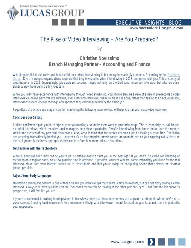 The Rise of Interviewing Are You Prepared