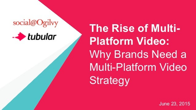 The Rise of Multi- Platform Video: Why Brands Need a Multi-Platform Video Strategy June 23, 2015