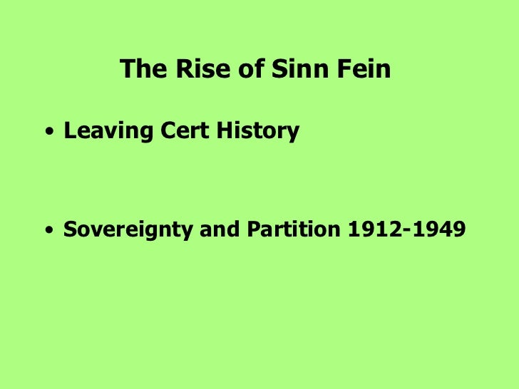 Rise of sinn fein essay