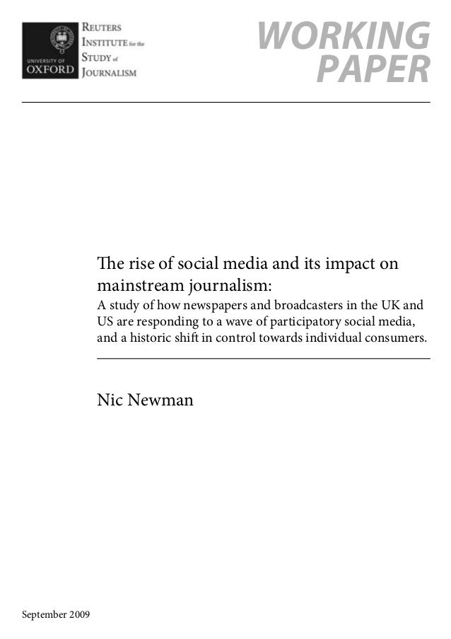 The rise of social media and its impact on mainstream journalism