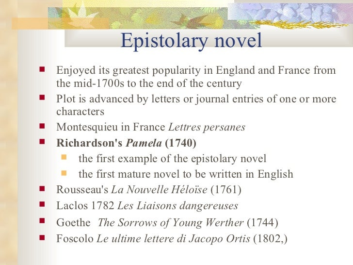 epistolary novel Even if you aren't sure what an epistolary novel is, you've probably already read at least one without even realizing it, like the color purple, dracula, or the perks of being a wallflower.