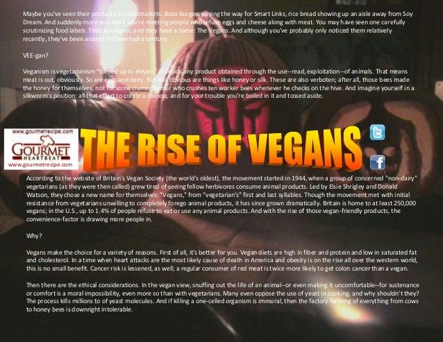 The rise of vegans