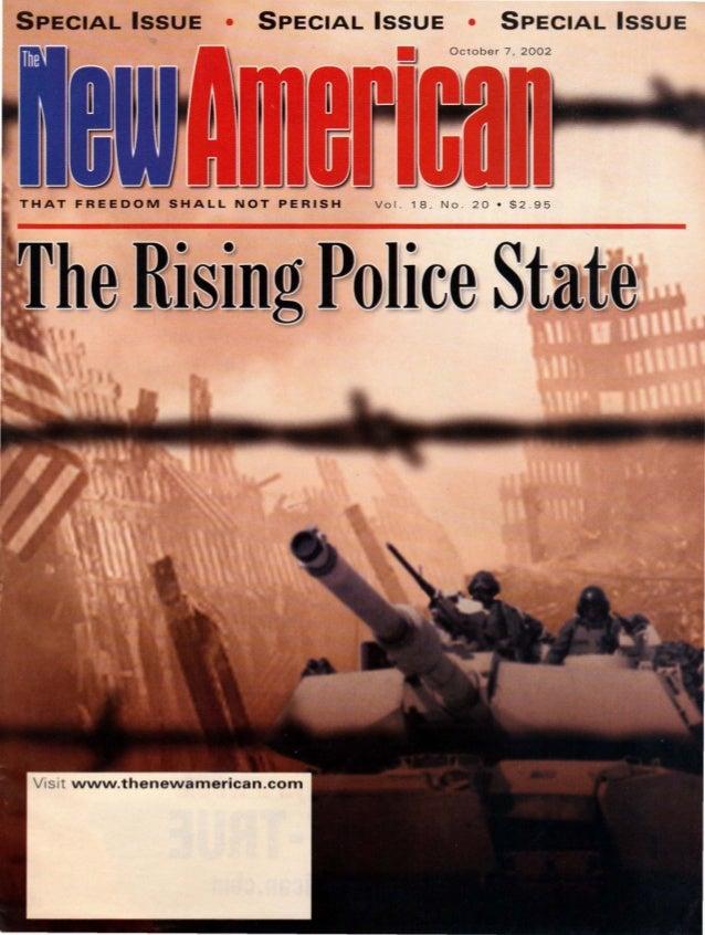 SPECIAL ISSUE  •  SPECIAL ISSUE  •  SPECIAL ISS UE  October 7. 2002  Vol.  V is it www.thenewamerican.com  18. No . 20 • $...