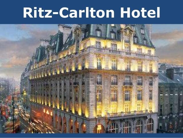 The ritz carlton hotel marketing presentation
