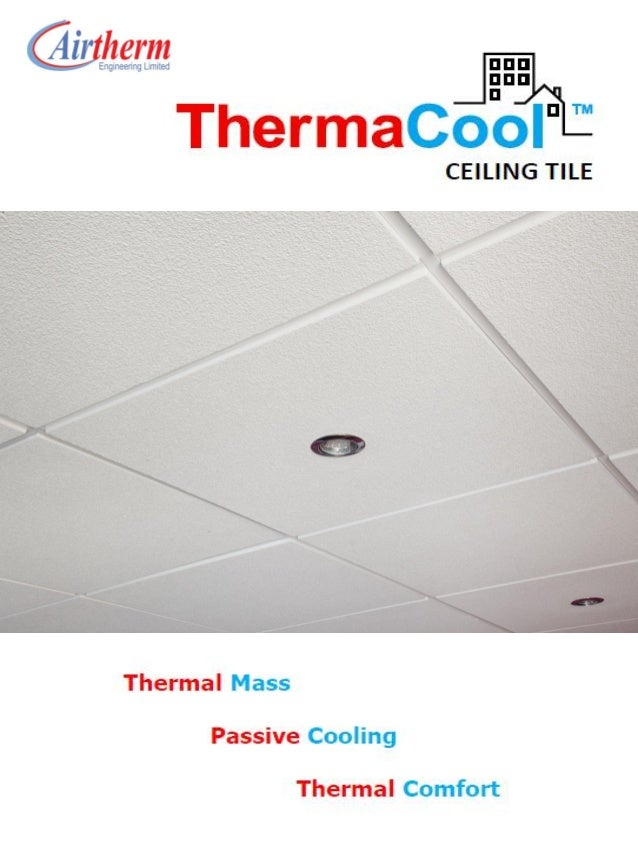 Natural & Passive Ventilation -  Thermacool Ceiling Tile Brochure