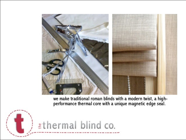 we make traditional roman blinds with a modern twist, a high-performance thermal core with a unique magnetic edge seal.