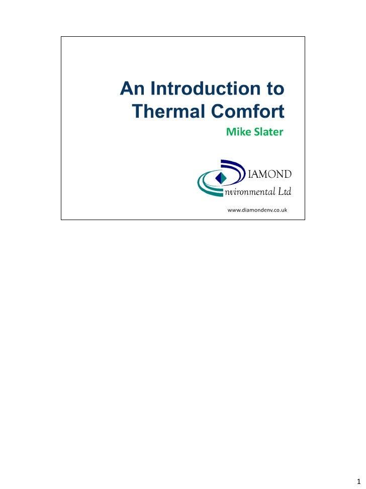 Thermal comfort for bohs version for slideshare   notes