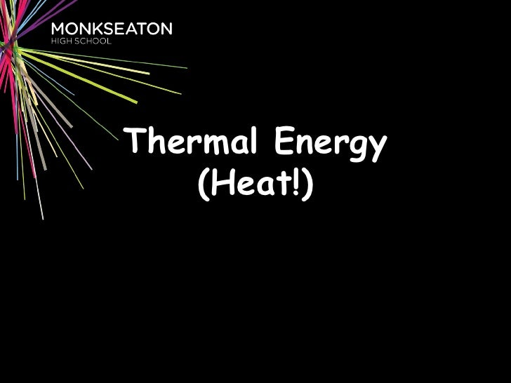 P1a: Thermal Energy Revision SJT