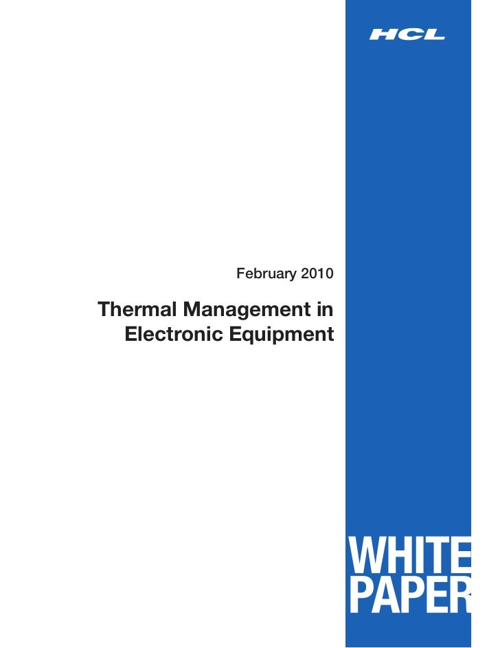 February 2010Thermal Management in  Electronic Equipment
