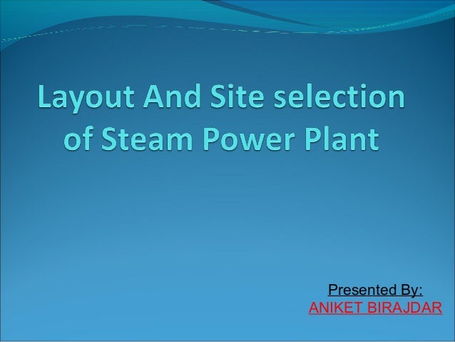 Thermal Or Steam powerplant
