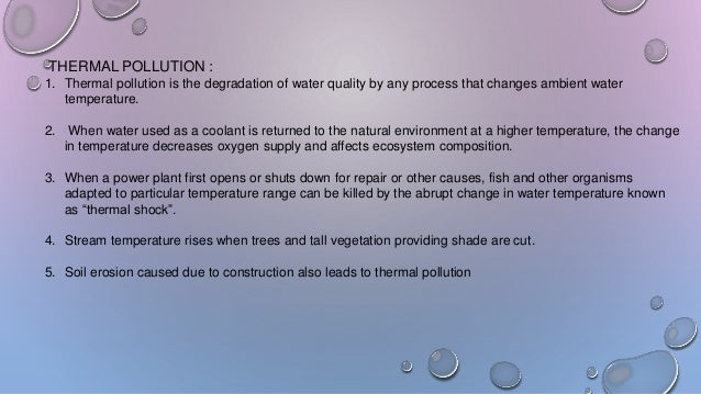 Effects of Thermal Pollution
