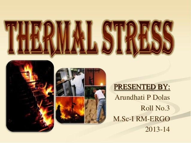 Ergonomics (Thermal stress)