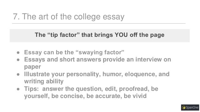 College application essay outline