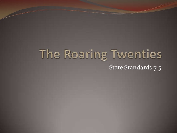 the roaring twenties essay introduction Introduction the roaring twenties note: this site was only created for a class project for more information, head to the about us section this website will mainly.