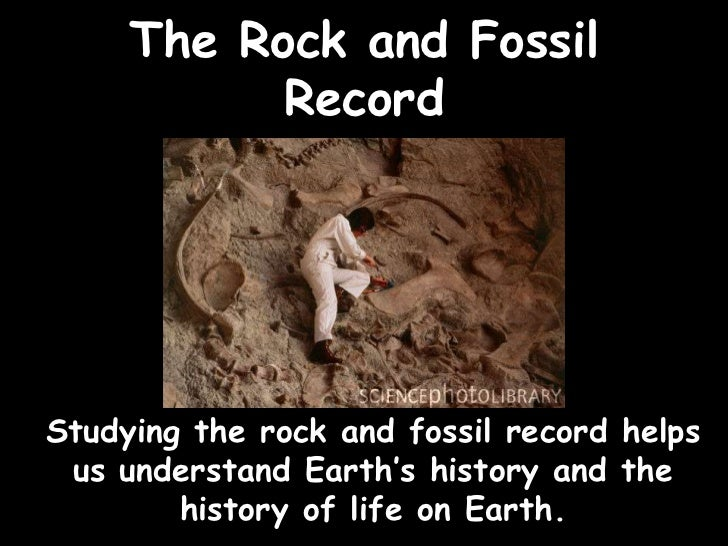 The Rock and Fossil           RecordStudying the rock and fossil record helps us understand Earth's history and the       ...