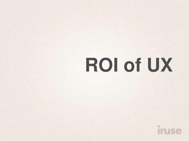 ROI of UX