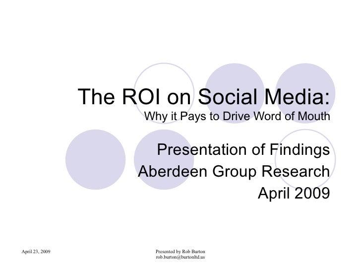 The Ro Ion Social Media Presentation