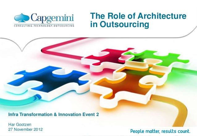 The Role of Architecture                                     in OutsourcingInfra Transformation & Innovation Event 2Har Go...