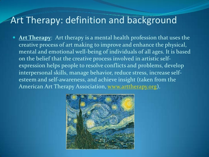 Anyone know anything about art therapy/ psychology?