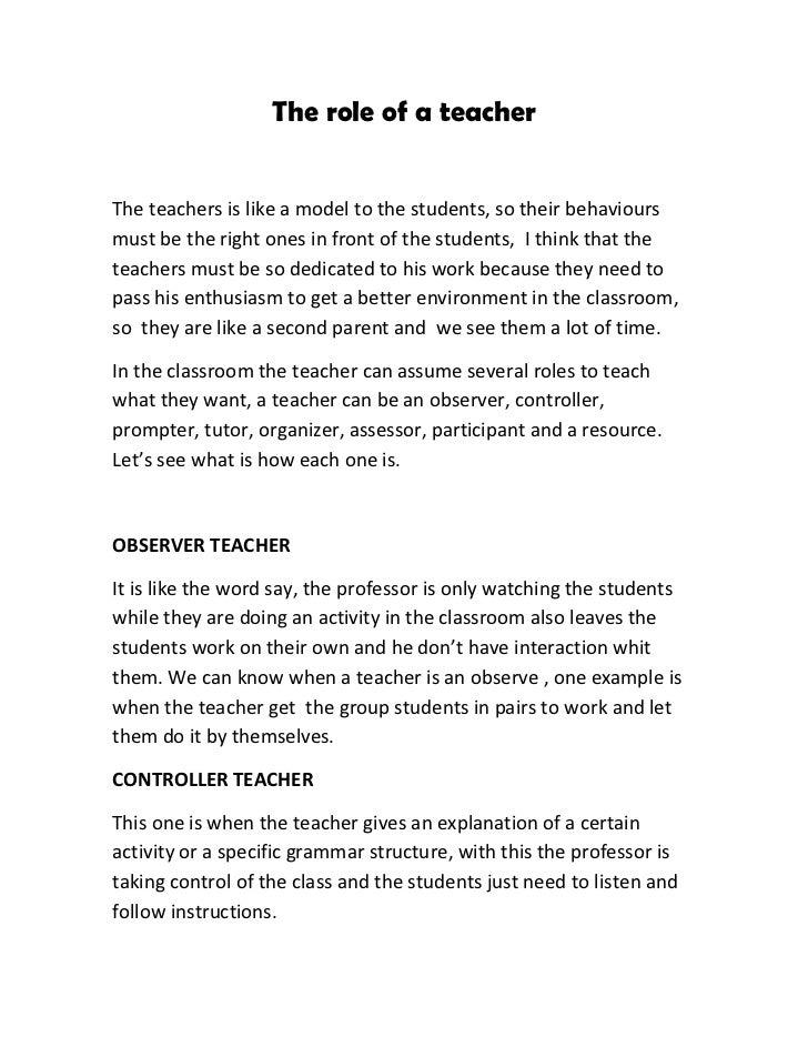 Write my teacher a role model essay