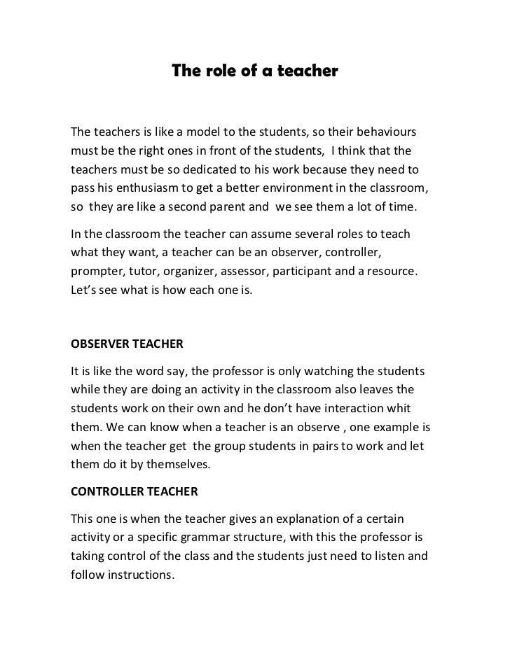 descriptive essay on a teacher Definition of descriptive writing descriptive writing is the clear description of people everyone has had a teacher who is hard to forget.