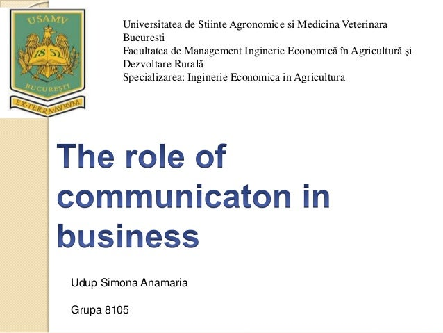Discuss the role of oral communication in business management?