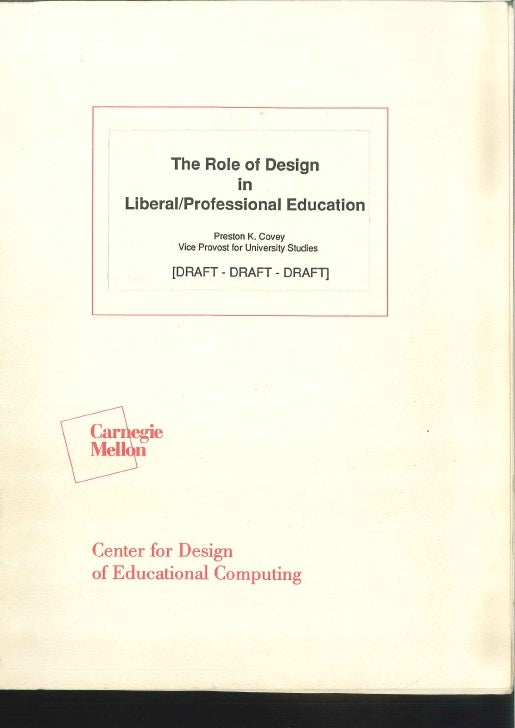 The role of design in Liberal-Professional Education