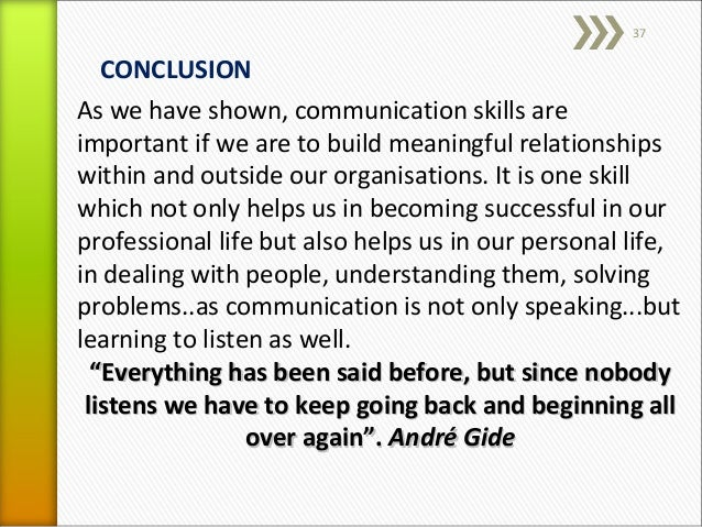 communication conclusion