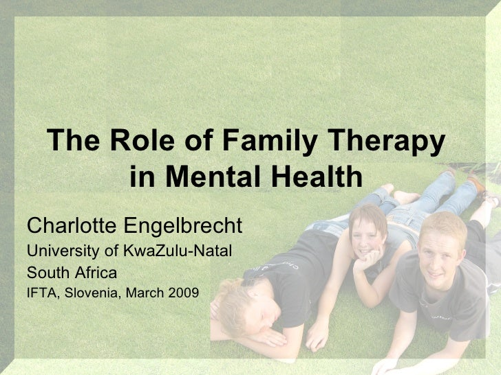 the role of the family in mental health recovery Getting family members involved in your client's recovery involving client families in therapy can improve communications, reduce stress, and help your client's recovery from co-occurring disorders.