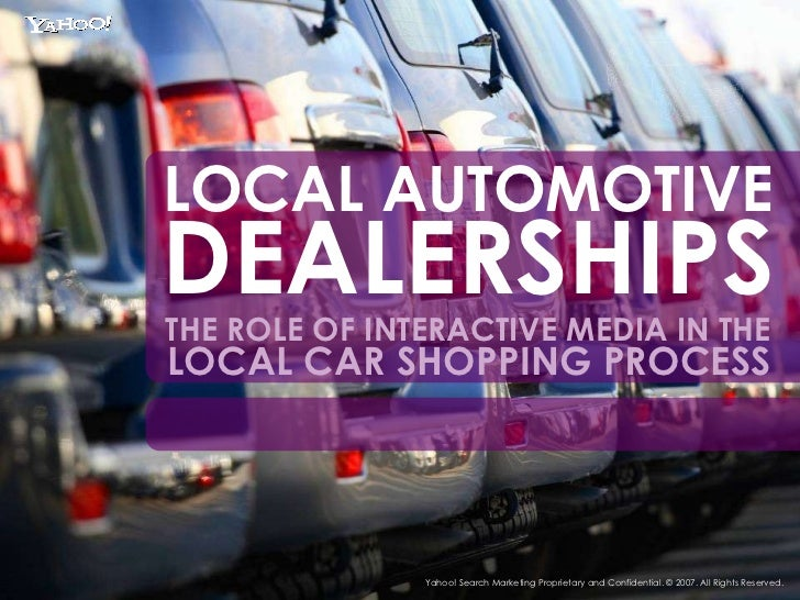 Role of Interactive Media in the Local Car Shopping Process