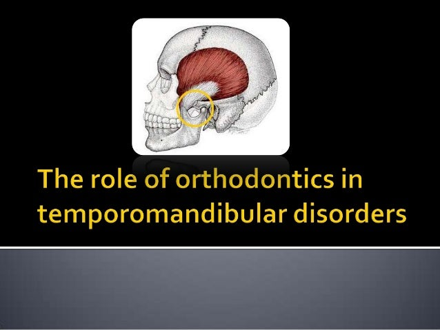    Temporomandibular Disorder (TMD) is    the main cause of pain of non-dental origin in    the oro-facial region includi...