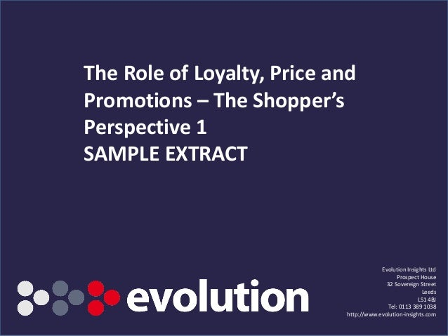 The Role of Price & Promotion 2012